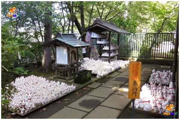 Đền Gotokuji nơi lưu truyền tích mèo cứu  lãnh chúa Nakaota Ii