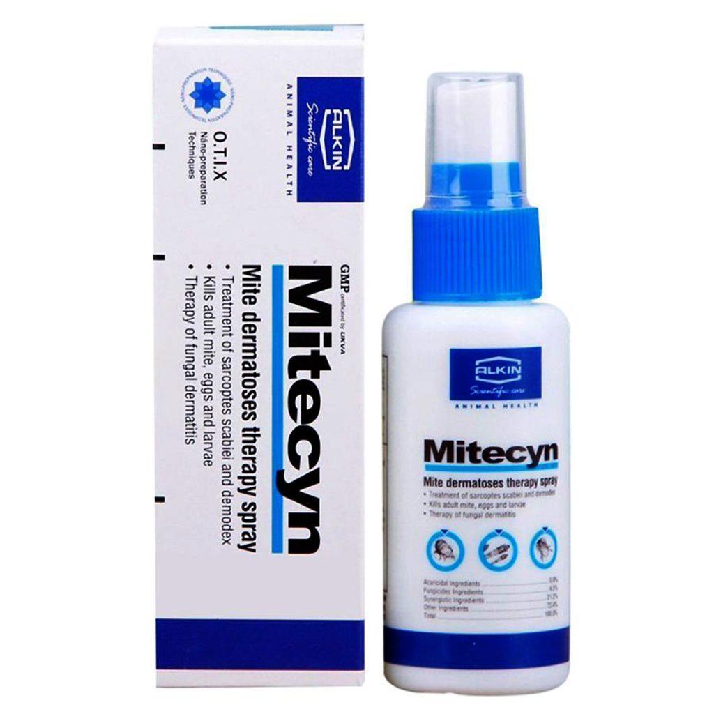 Mitecyn là loại thuốc xịt trị ghẻ cho mèo khá hiệu quả và được nhiều người sử dụng