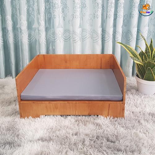 giường gỗ cho chó mèo